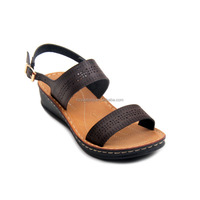 Hot sale simple design craft shoes open toe casual sandals fancy latest flat sandals for womens pictures