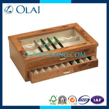 2014 hot sale expensive luxury fancy wooden box for sale Solid wood with lacquer and eva