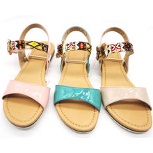 China OEM ladies beautiful new design shoes chappals sandals