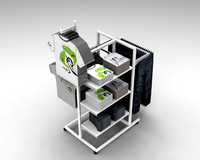clothing hanging display stand for shop fittings