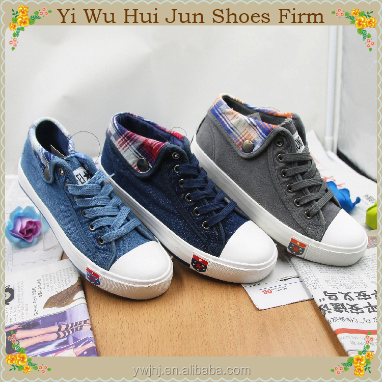 canvas rubber shoes new style high heels canvas shoes