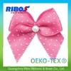 100% Eco-Friendly Materials Dog Grooming Bow Satin Ribbon Elastic Ribbon Band Heart Resin Grosgrain Hair Bows
