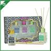 Fragrance glass bottle rattan stick diffuser gift set ,different color packing air freshener