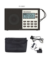 Hot sales portable world receiver for promotion PLL FM/MW/SW(1-9) 11 Band 400 stations memory