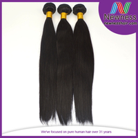 Factory supply 7A grade unprocessed cuticle intact silky straight color #1B hair extension in hyderabad