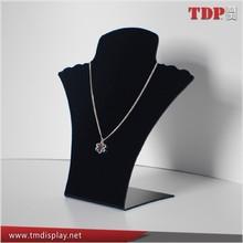 Manufacturer 5mm Black Acrylic Jewelry Necklaces Display, Acrylic Jewelry Display Stand for Retail Shop