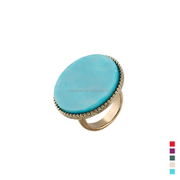 Fashion Women Jewelry Gold Ring Gemstone Beaded Ring