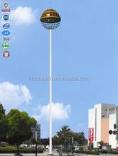 Landscaped lighting square high pillar steel galvanized mast