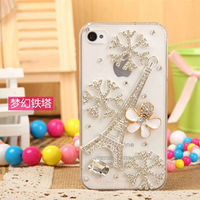 For iPhone 5 Case Diamond Girls,Snowflake Diamond Bling Cell Phone Case for iPhone 6