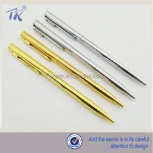 alibaba tùy chỉnh in logo của kim loại bút bi swarovski đầy màu sắc mỏng con lăn bút bi