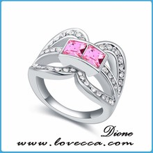 newest value 925 silver ring with pink stone