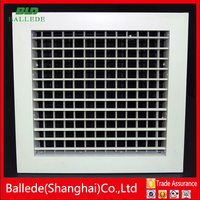 HVAC system powder coated double deflection supply air grille