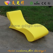 plastic multicolored PE material outdoor furniture wooden deck chair