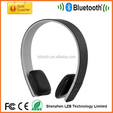newest fashion design PU Leather bluetooth stereo headphones low price headset with leather