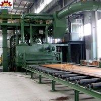 abrasive dust free CE Certification Steel Plate Shot Blasting Machine / Rebar Shot Blast Machine for sales