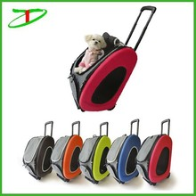 promotion eva pet products dog carrier, pet carrier with wheels