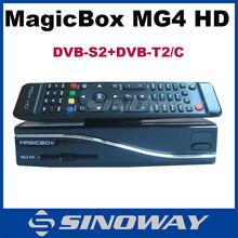new 800MHZ CPU satellite receiver 2015 MAGICBOX MG4 wifi DVB-S2+DVB-T2/C better than Zgemma-star H2 Cloud ibox 3 se, hot MG4