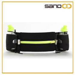 2015 New Product running sport waist bag with two bottle holder, hydration waist running belt