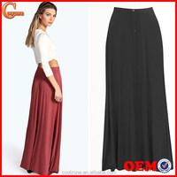 2015 Latest skirt design pictures long skirt lady maxi skirt