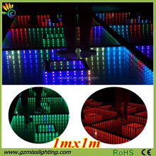 Best Sale Wedding Club Party light weight 3D Effect Mirror Portable Led Dance Floor
