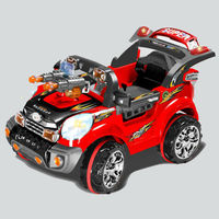 SE97330 Red Color Jeep Type Kids Drive Toy Car