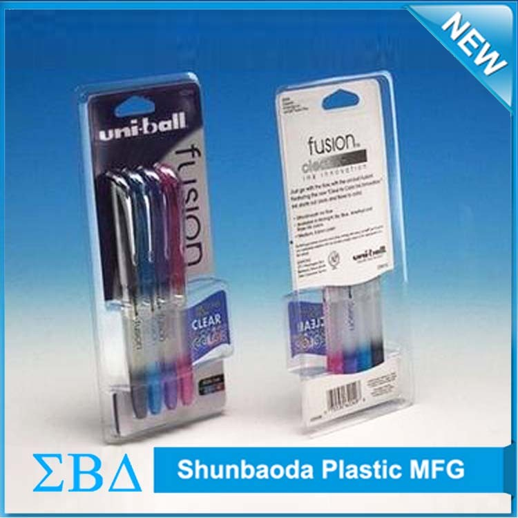 Top Quality plastic blister packaging, clear pet clamshell blister packaging for pen and pencils.jpg