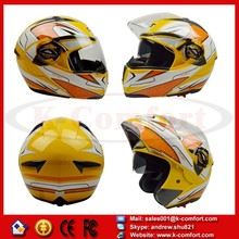 KCM63 for GXT double lens motorcycle helmet flip up full face helmet vintage dual lens racing capacete