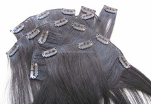 Greatest 7A Huge Stock Cheap Double Weft Clip In Human Hair Extensions For Children