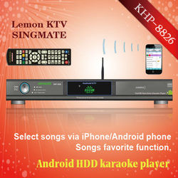 Android Porfessional Lemon KTV product with HDMI 1080P ,Select songs via iPhone/Android phone ,build-in AGC/AVC ,songs favorite