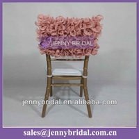 C005P Jenny bridal fancy ruffled chair covers for plastic chairs