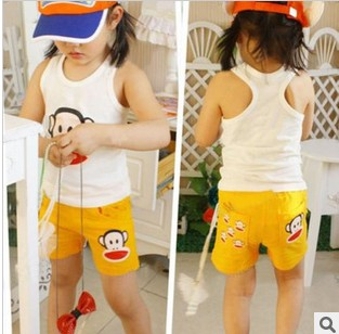 Специальные весенние новой корейской версии мальчики девочки джинсы хлопка жилет t рубашка детей рубашка хлопок