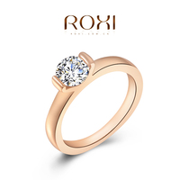 2015 Roxi new Popular jewelry rose gold plated pave ring jewelry set wholesale price