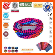 2015 Multifunctional Comfortable Funny and colorful dots 100% seamless polyester tube bandanas for sales