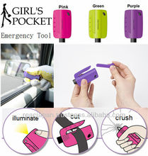Car Emergency Tool Security Kit with Window breaker and Seatbelt Cutter