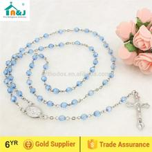 10 years exporting experience plastic jesus rosary necklace Religious promotion