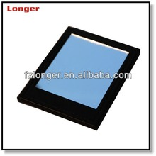 Black pu leather sigle side cosmetic mirror for man