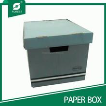CUSTOM PAPER CORRUGATED HANDHOLDS ARCHIVE CARTON BOX
