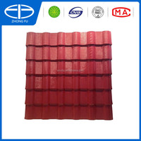 Anti corrosion ASA Layer Synthetic resin Red PlasticPVC roof tile
