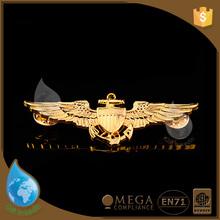 New design bronze die casting metal pin badge
