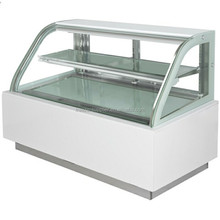 Double curved glass display freezer for chocolate/cake/fruit
