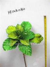 Whole sale artificial flower rose bush with CE certificate