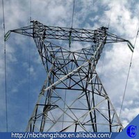 220kv Angular Electric Power transmission tower , Lattice steel tower , Transmission Line Tower