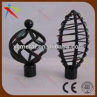 Twist series matt black cheap price curtain finial wholesale and export