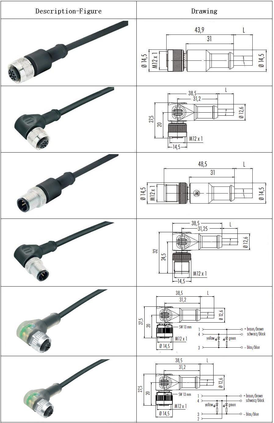 imperm u00e9able  u00e0 l u0026 39 eau pcb montage m12 3 broches connecteur