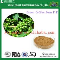 chlorogenic acid 50% pure plant extract free sample green coffee bean extract powder