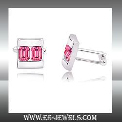 high end Austria crystal style cuff links for woman cufflinks