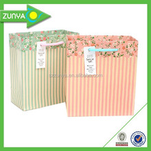 Newest popular paper shopping bag logo/packaging box