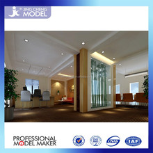 high technology 3D rendering interior drawing of office room