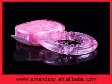 2015 hot selling vibrating ring,strong vibration cock ring vibrator female vagina anal sex toy AMD010X