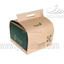 OEM printing paper cupcake cake boxes with handles